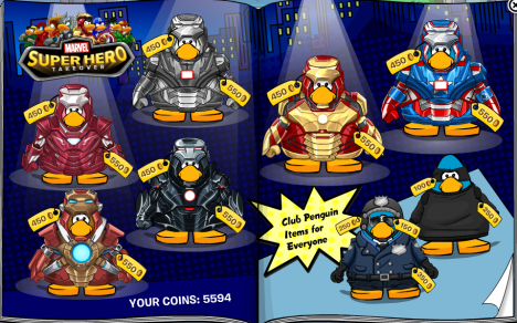 Club Penguin Marvel Superhero Takeover 2013 Cheats