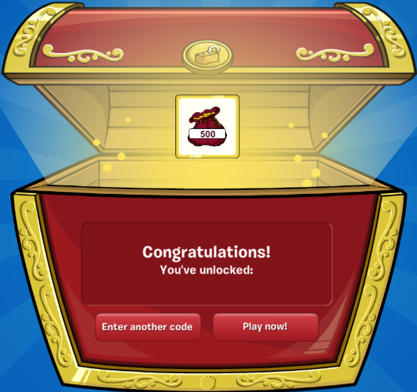 club penguin unlocked 500 coins