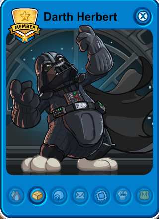club penguin darth herbert playercard