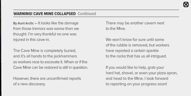 club penguin cave mine collapsed cpt issue 420