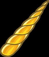 club penguin golden unicorn horn