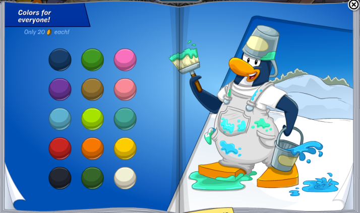 club penguin november 2013 penguin style colors