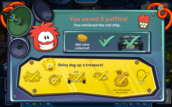 club penguin operation puffle caught 5 red puffles