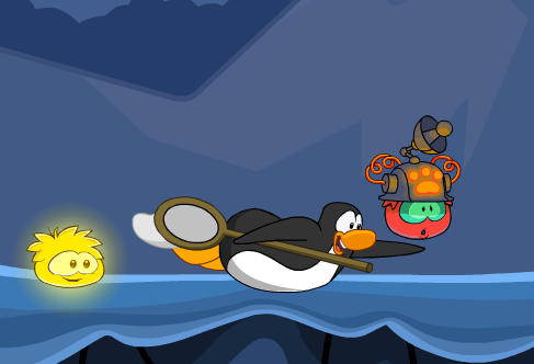 club penguin red puffle catch operation puffle