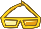 club penguin gold d glasses