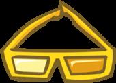 club penguin gold d glasses