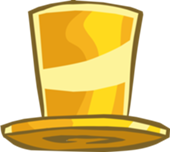 club penguin gold top hat