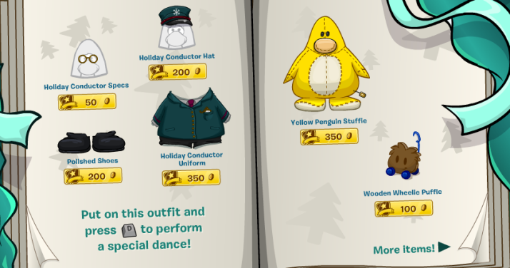 club penguin holiday party 2013 catalogue 2