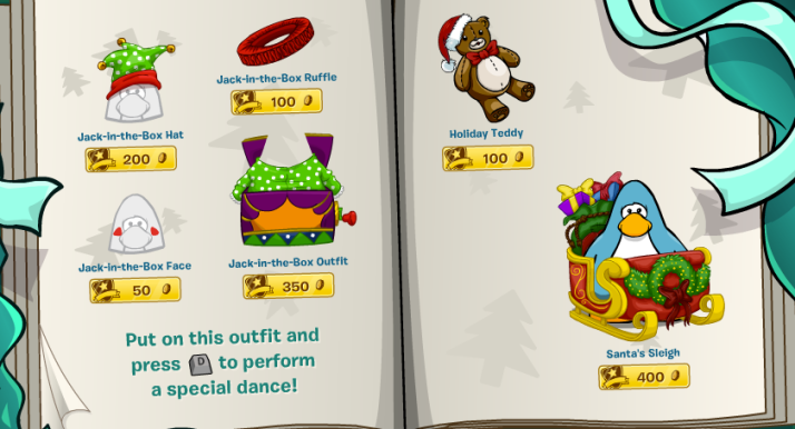 club penguin holiday party 2013 catalogue 3