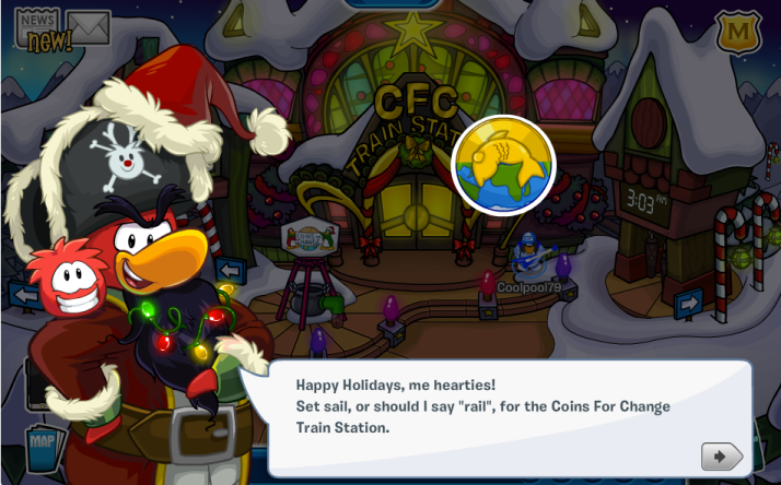club penguin holiday party 2013 cheats
