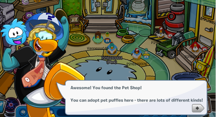 club penguin pet shop info