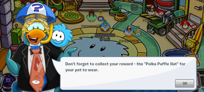 club penguin polka puffle hat