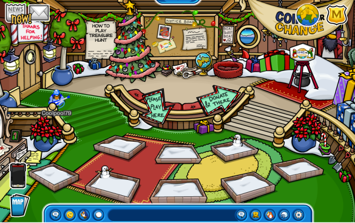 club penguin rockhopper's ship captain's quarters december 2013