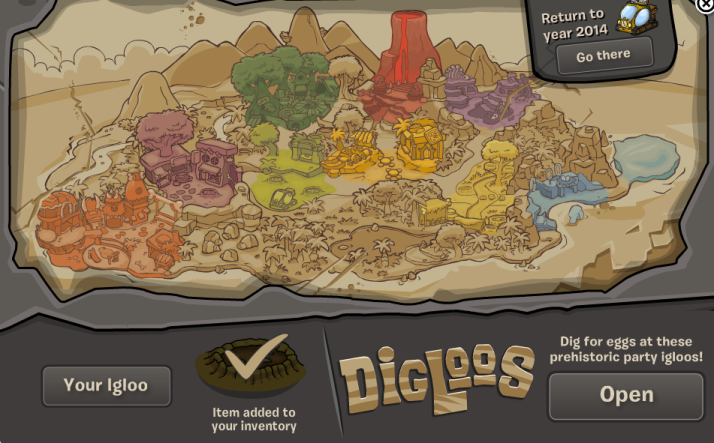 club penguin prehistoric map