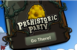 club penguin prehistoric party 2014