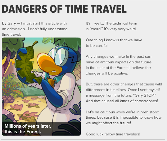 dangers of time travel