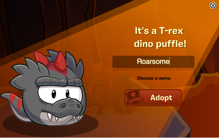 name club penguin dino puffle