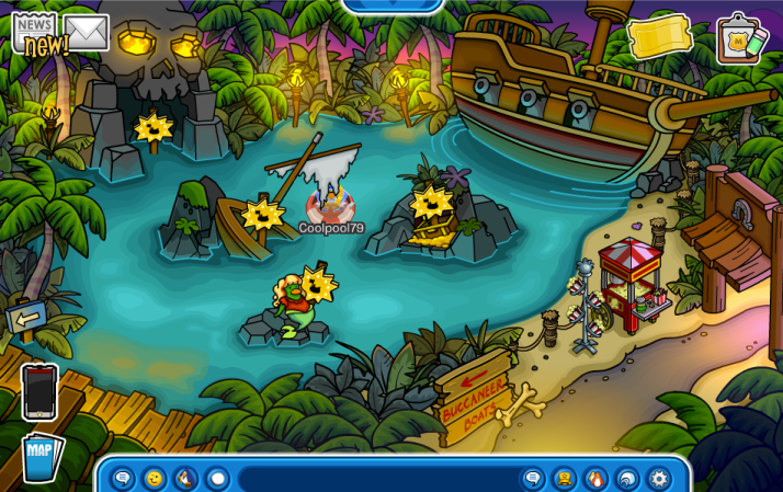 club penguin buccaneer boats
