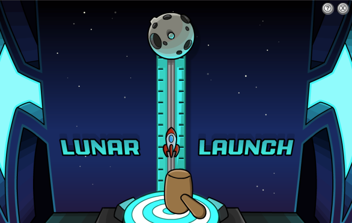 club penguin lunar launch