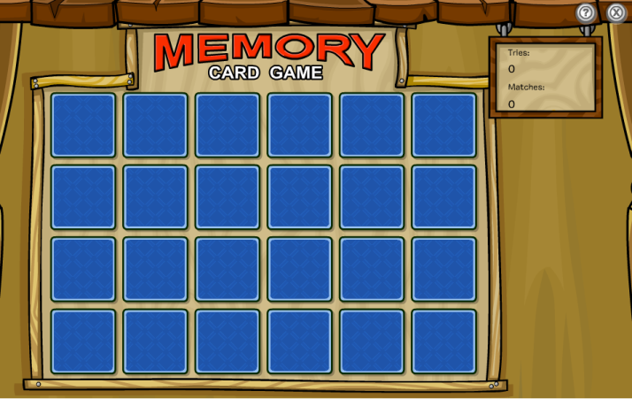 club penguin memory card game