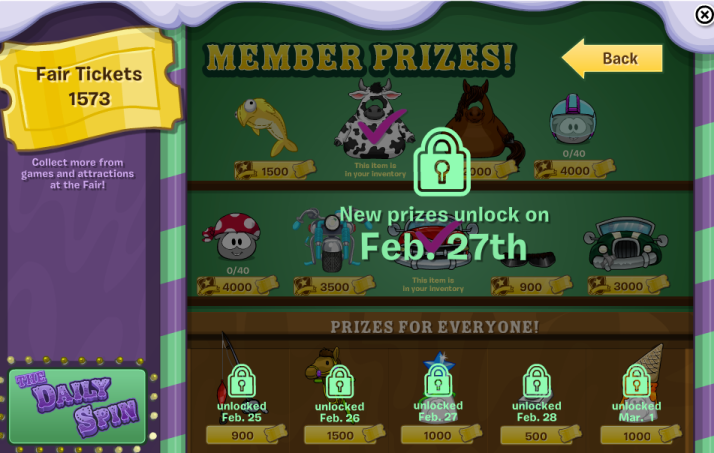 club penguin new prizes