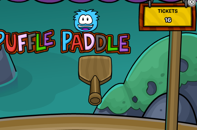 club penguin puffle paddle