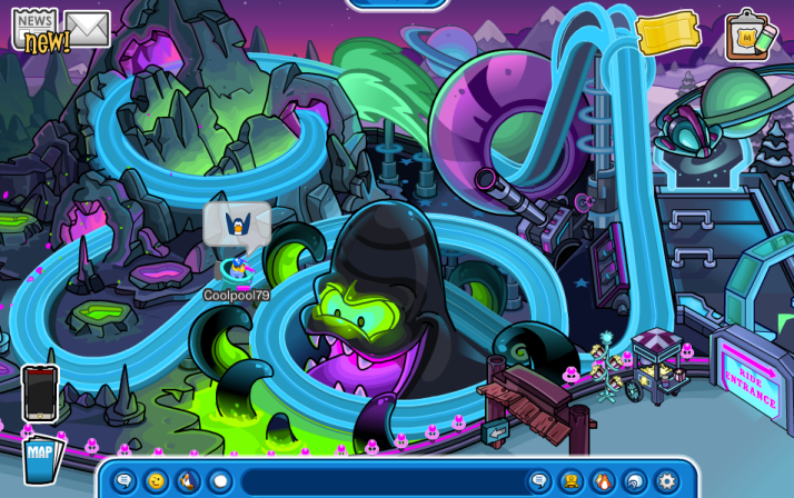 club penguin rollercoaster