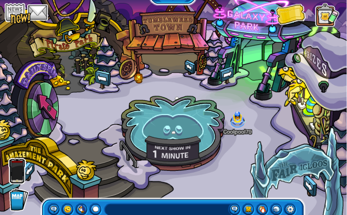club penguin the amazement room