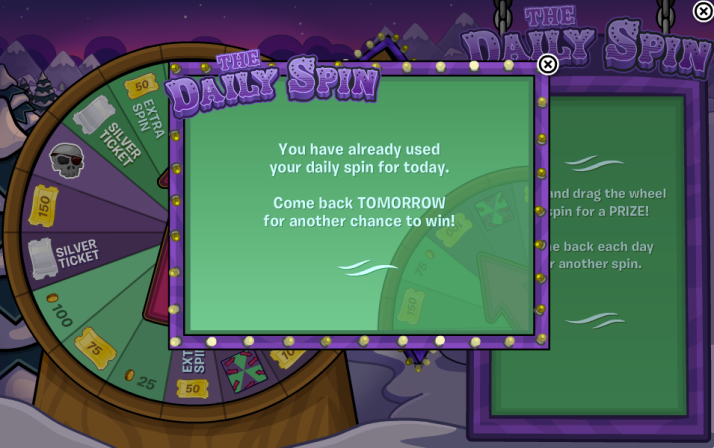 club penguin the daily spin